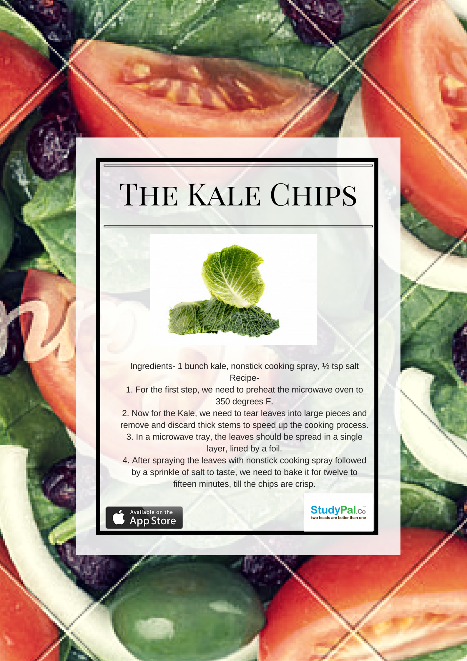"These crispy sinful kale ""chips"" are practically fat free — the perfect answer for guilt-free snacking options. If you are one of those who like to keep munching something or the other as you rack your brains, this is absolutely going to be your favorite."